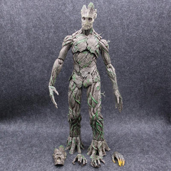 Hot Toys Anime Marvel Guardians of The Galaxy Tree Man Avengers BJD PVC Action Figure Toys Dolls 40cm Big Size