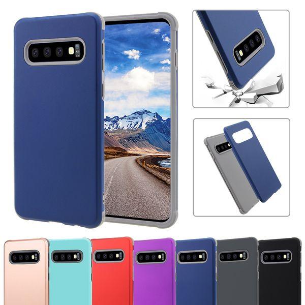 Super anti-choque robô híbrido case para iphone xs max xr samsung s10 plus s10e silicone case capa protetora para iphone 6 7 8 plus em saco