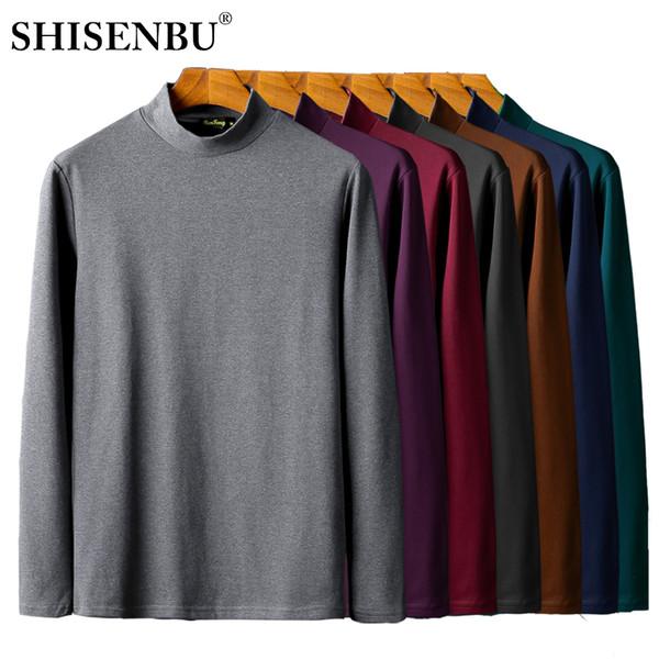 Männliche Unterwäsche Hemd Stehkragen Winter Body Herren Warme Kleidung Thermo Unterhemden Dicke Basic Tops Baumwolle Unterhemd T-shirt