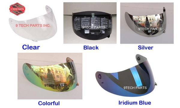 FULL FACE MOTORCYCLE HELMET Racing SHIELD LENS K3 K4 K4-EVO VISOR (Not For K3-SV) Colors Black, clear, Silver, Rainbow, Blue
