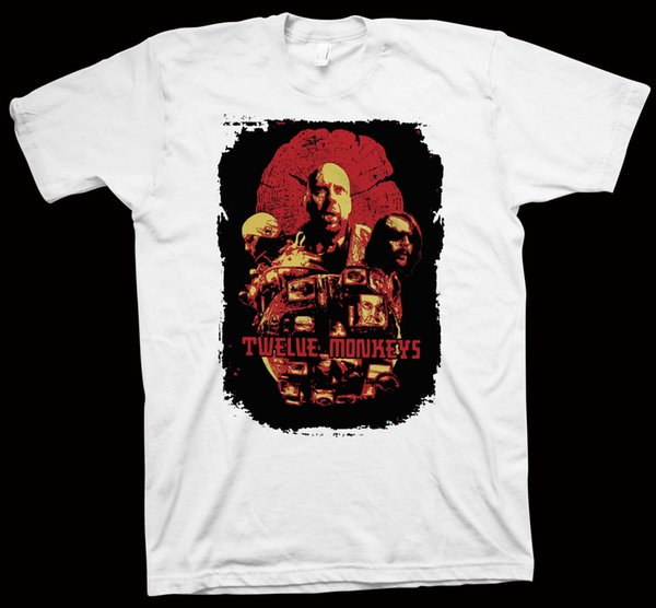 T-shirt de doze macacos Terry Gilliam, Bruce Willis, T-shirt do hip-hop do hoodie do hoodie de Brad Pitt, Hollywood