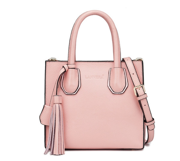 2019 new fashionWholesale first-tier cowhide bags and ladies European and American style one-shoulder sloping leather fashion handbags