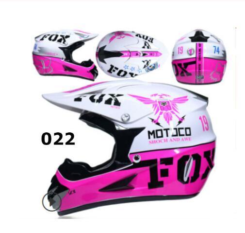 2020 New Style Fox Head Motocross Helmet Racing Full Face Safety Helmet Men And Women Multi Style Full Face Helmet Womens Motorcycle Helmets Womens