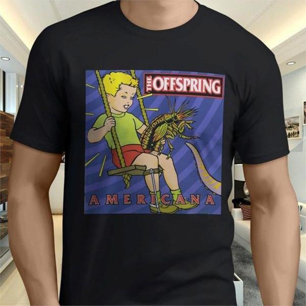 Kühle neue The Offspring Americana Punk Rock Men'; S schwarze T-Shirt Größe S 3Xl