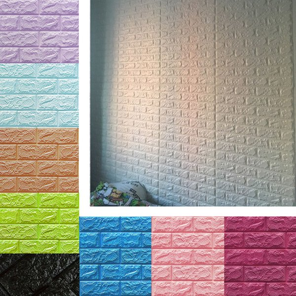 3D Brick Wallpaper Peel and Stick Wall Panel Living Room Stickers Bedroom Kids Room Brick Self adhesive Wall Papers Home Decor