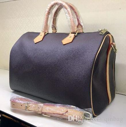 Borsa a tracolla della borsa della borsa della tracolla di trasporto libero di nuova marca di modo Lady vera pelle ossidante 25cm 30cm 35cm borsa con tracolla