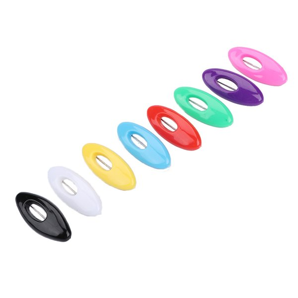 6 Teile / satz Oval Emaille Pin Schal Brosche Für Frauen Sicherheitsnadeln Schal Schnalle Bequem Schals Pin