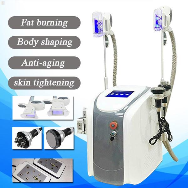 Freezing Fat Maquina 2 Cryo Cryolipolisis Love Handles Cellulite Reduction rf slimming Ultrasonic Cavitation