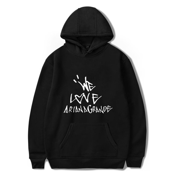 We Love Ariana Grande Mens Designer Sweaters Women Men Harajuku luxury hoodie Fashion Streetwear Clothes hip hop Casual pullover Sweatshirts