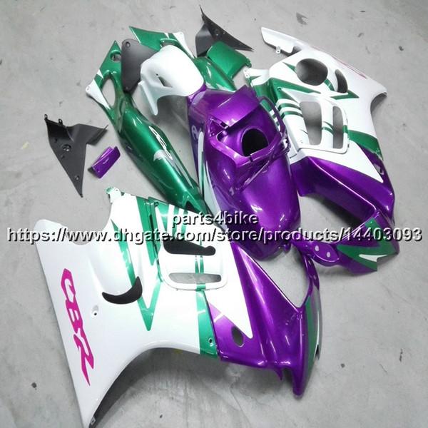 Custom + Screws ABS lila weiße Verkleidung für Honda CBR600F3 1997-1998 CBR600 F3 97 98 CBR 600F3 Motorrad Verkleidungen