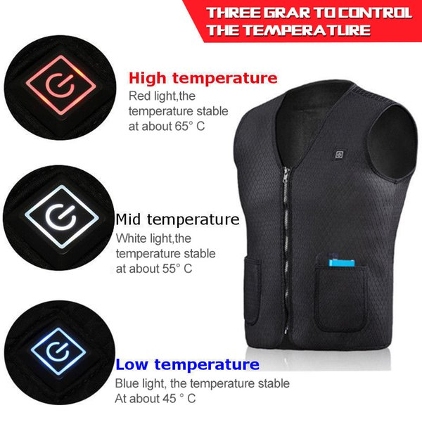 motorcycle vest electric battery heating usb sleeveless vest winter heated outdoor sport jacket cycling racing back armor