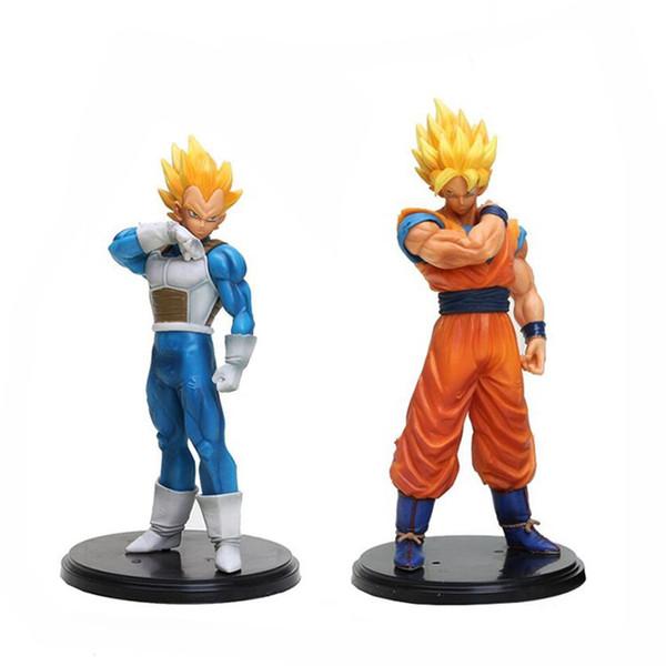 Alta Qualidade 2 Estilo PVC Dragon Ball Vegeta Filho Goku Kakarotto Figuras de Ação Boneca Para A Criança Melhores Presentes 18-20 cm