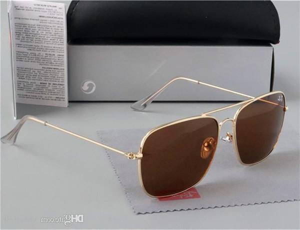 yeni moda klasik Attitude güneş gözlüğü altın kare metal çerçeve bağbozumu tarzı açık tasarım klasik modeli 3549