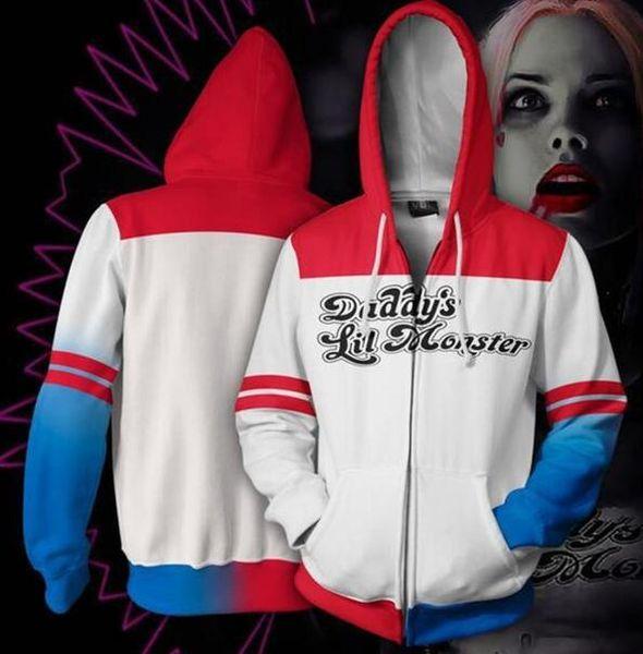 2019 PLstar Cosmos Fashion Hoodies Suicide Squad Quinn 3d