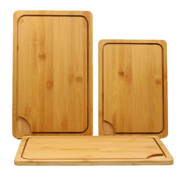 Cocina japonesa Antibacterial Tabla de cortar Multifunción Bloques de bambú para picar Cortar Pan Postre Filete para picar BH1296 TQQ