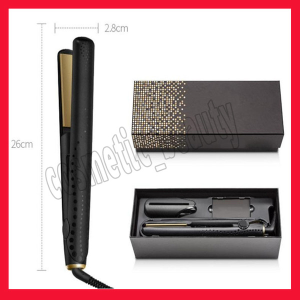 top popular .V Gold Max Hair Straightener Classic Professional styler Fast Hair Straightening Iron Hair Styling tool With Retail Box 2021