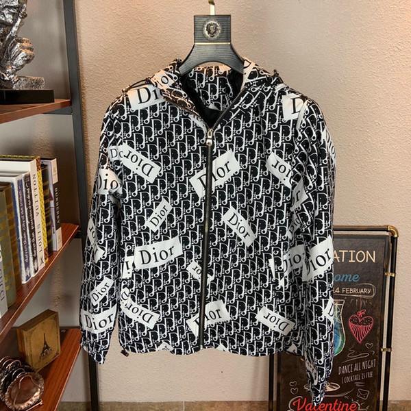 fe22 2019 Sonbahar moda gelgit Gevşek Coat Yeni Desen Ceket Erkek Yaka Erkek Giyim Adam Genç ceketler 09021