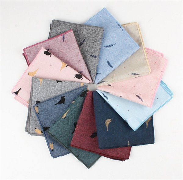 Fashion Business Suit Pocket Square Hankies Hanky Colorful Handkerchief Large Size Cartoon Neckties Ties Square Towel Napkin Kerchief