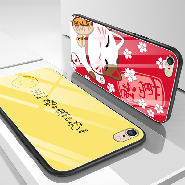 Applicable for iPhone 6 mobile phone case for iphone 8 custom glass shell painted xsmax / xr / 7plus mobile phone sets