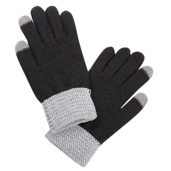2019 NEW Men Multi-function Patchwork Riding Screen Winter Gloves Soft Warm Mitten 1217