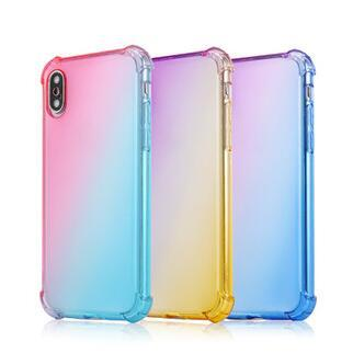 Gradient Colors Anti Shock Airbag Soft Clear Cases For IPhone XR XS MAX 8 7Plus 6S For Samsung S10 S9 Note 9