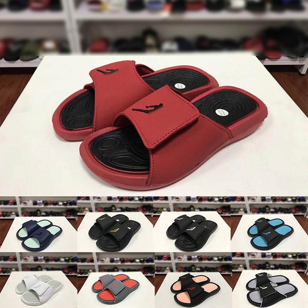 Haute Qualité Nouvelle Mode Hommes Designer Plate-Forme Sandales D'été En Plein Air Garçons Rouge Noir Bleu Pantoufles chanclas para hombre Diapositives Chaussures