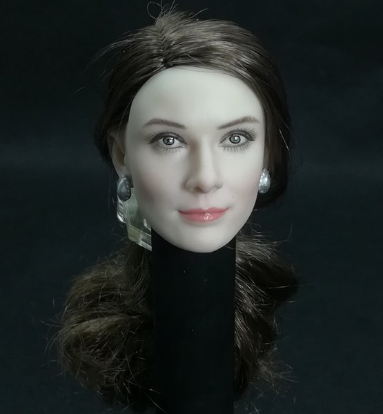 Collection 1/6 Scale Audrey Hepburn Head Sculpt With Real Hair fit for 12inch action figure toy Phicen White Skin Body Model