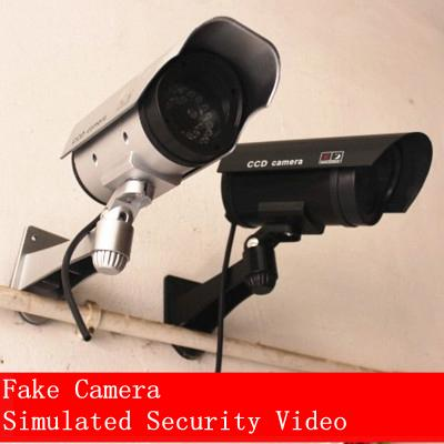 Dummy Fake Camera Simulated Security Video Surveillance Dummy Security Camera With Led Light For Outdoor Home Security Supplies YFA408