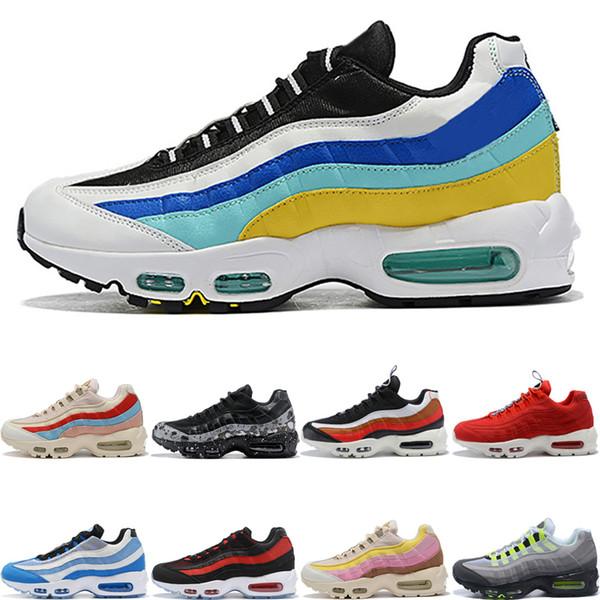 Compre Nike Air Max 95 Shoes Barato Nebulosa Del Trullo Nueva Moda Zapatos Para Correr Splatter Laser Fuchsia TT Pull Tab Aqua Neon Uva Bred Hombres