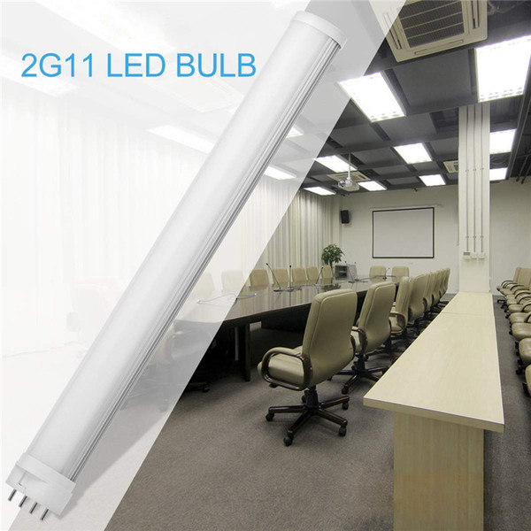 LED 2G11 Light, 4-Pin Base LED Retrofit Tube Lights, 2G11 LED Bulb Compact Fluorescent Lighting Replacement (Remove or Bypass Ballast)