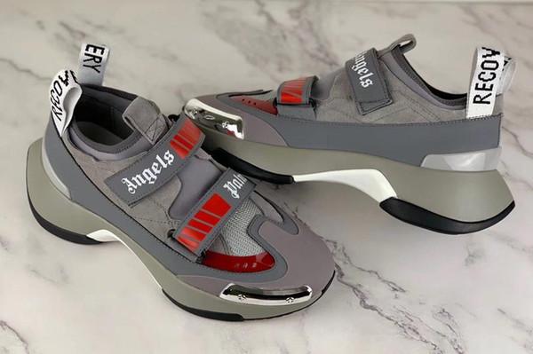 2019 venda quente, novos sapatos de grife palmangels sapatos de marca dos homens de grandes dimensões sapatos masculinos sola de borracha leve casuais 3D 38-45 // T03