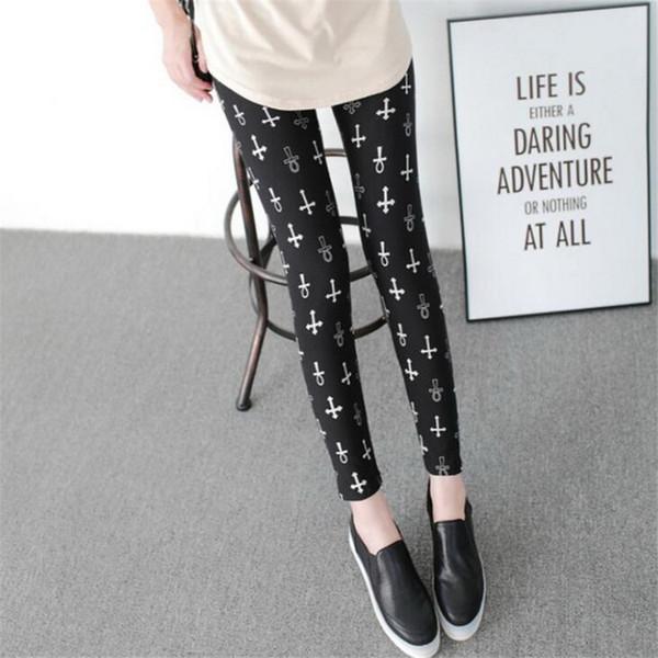 2019 nouvelle mode populaire nouvelle mode d'impression des femmes Leggings d'élasticité Legins Legging Casual Lait Legging Pour femmes pantalons de yoga