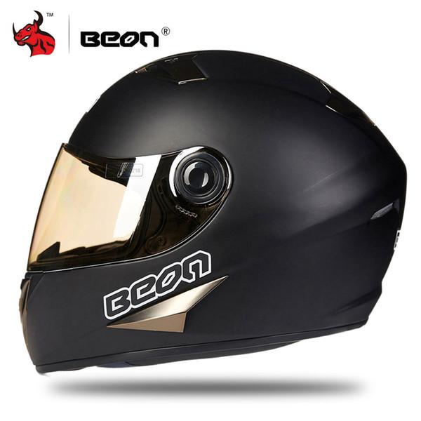 BEON Motorcycle Helmet Men Motocross Helmet Black Moto Cross Downhill Off-road Casco Moto