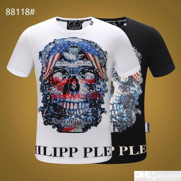 2019 verão mens roupas coloridas Prego broca Padrão de impressão T-shirts casuais moda Tee camisas homme top quality mens T-shirts MN-6