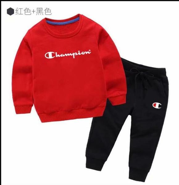 NEW Baby Мальчики и Девочки Костюм Марка Спортивные Костюмы 2 Детская Одежда Набор Го