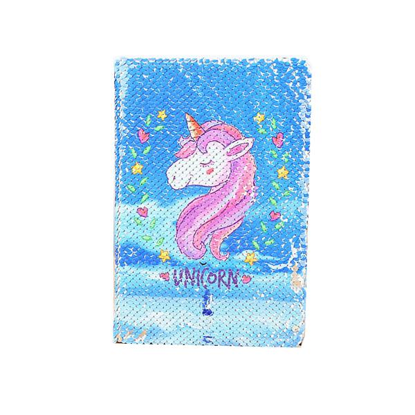100 Mermaid Sequin Unicorn Notebook Fish Scale Notepads tickler Books Fashion Office School Supplies Stationery Gift Drop Shipping