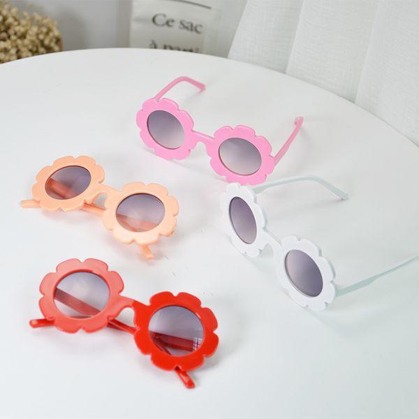 e74b6e47bbba Hot Vintage Kids Sunglasses Child Sun Glasses Round Flower Gafas Baby  Children UV400 Sport Sunglasses Girls
