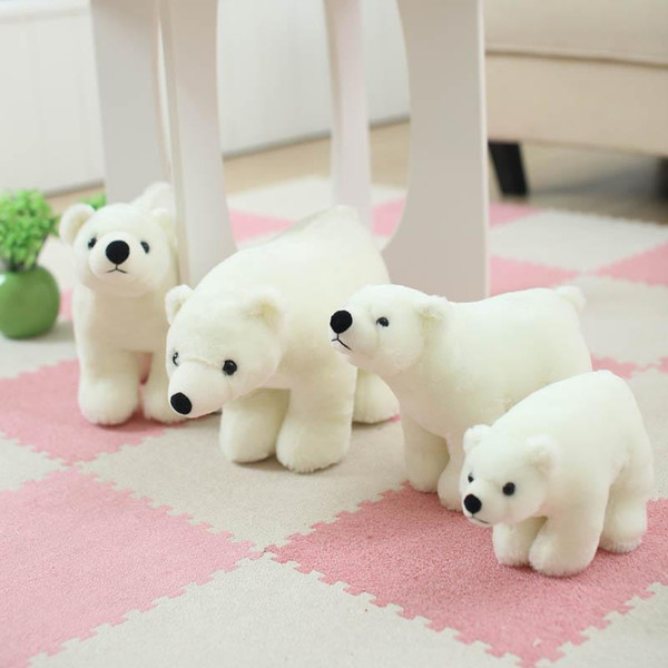 Wholesale- 7.8 Inch Plush Polar Bear Sweet Cute Lovely Stuffed Baby Kids Toys for Girls Birthday Christmas Gift Cute Girl 20cm Baby Doll
