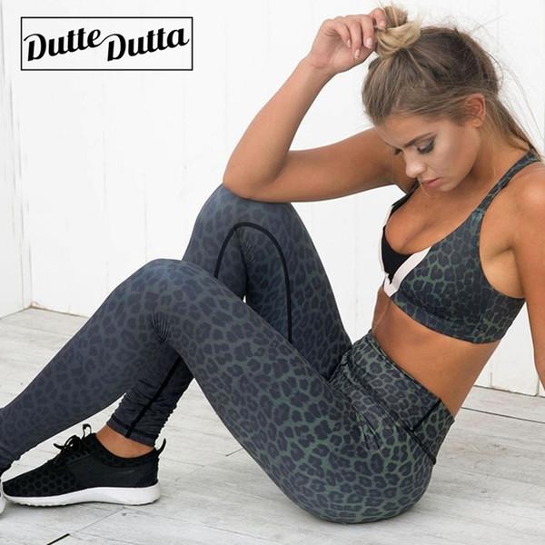 Duttedutta Women Yoga Pants Slim Fitness Leggings Leopard Print Sport Pants Gym Quick Dry Yoga Bottoms Leggins Tights Sportswear #220626