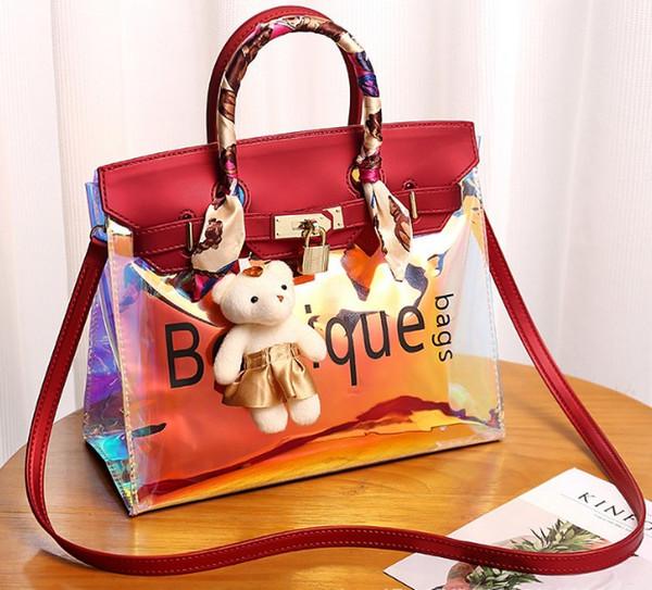 shoulder bag tote arrive cheetah laser wholesale 2019 original handbag purse female Environmental protect PVC beach outdoor bags CA UK EUR