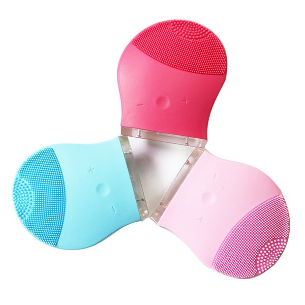 Motor-Driven Charge Facial Brushes Silicone Waterproof Decontamination Cleansing Instrument Creative Sell Well With Red Blue Color 27nh J1