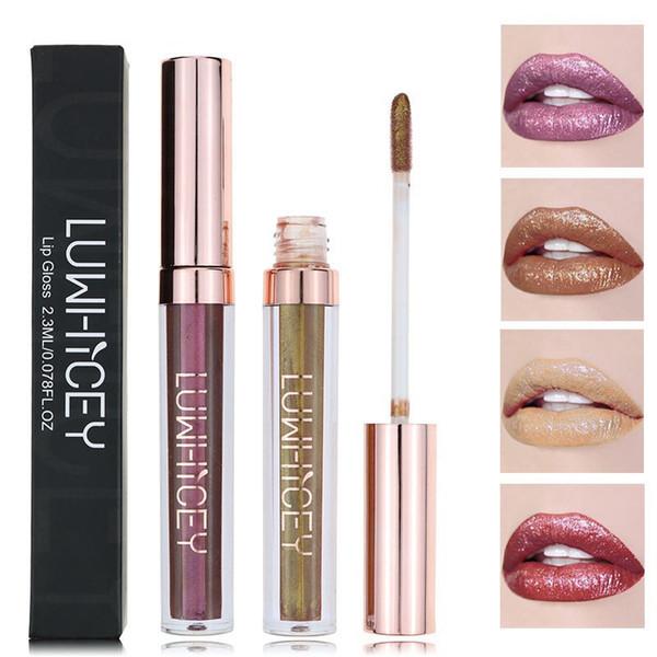 1 unid Lip Gloss Lip Tint Kit de lápiz labial líquido Cosméticos Maquillaje Shimmer Pigment Frosted Sexy Liquid Lipstick maquiagem Dropship