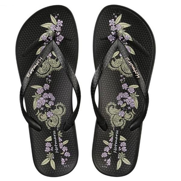Nouvelles femmes chaussures pantoufles créateur de mode impression plage tongs dames été plat string sandales glissières