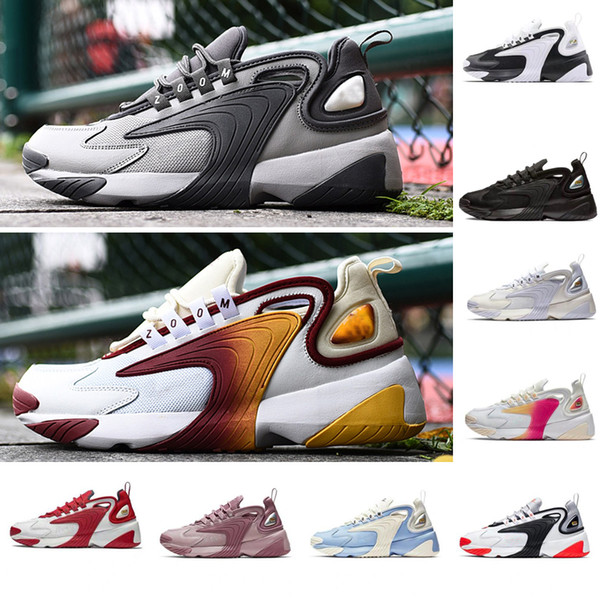 Hommes Zoom 2K Lifestyle Chaussures De Course Blanc Noir Bleu ZM 2000 des années 90 style Trainer Designer Baskets Extérieures M2K Confortable Causal Chaussures 36-45
