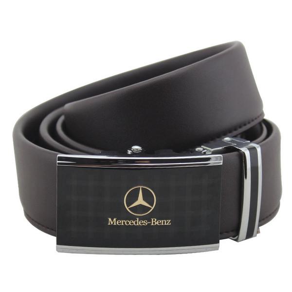 Mercedes Benz Aleación Cinturón de lujo Hebilla automática Ancho 3-4cm Longitud 130cm Cinturón que cuero de vaca Más Vaca Cinturón de cuero para hombre Caliente