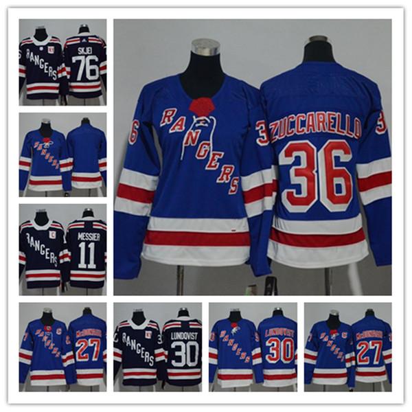 buy popular 10568 34aaa 2019 New York Rangers 36 Mats Zuccarello Jersey Henrik Lundqvist Brady  Skjei Chris Kreider Mika Zibanejad JT Miller Blue White Hockey Jerseys From  ...