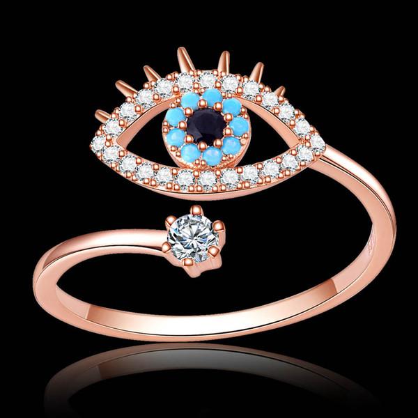Элегантный Неоготический Синий Дурной Глаз Кубический Цирконий Женщины Девушки