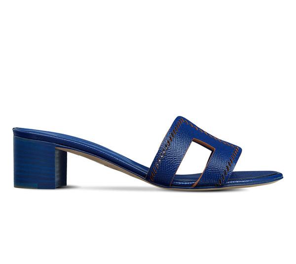 unisex Männer Frauen Designer Sandalen Luxus Dia Leder mit Mischungsfarben Staubbeutel-Designer-Schuhe Luxus Slide Sommer Weit Flache Sandalen Slipper