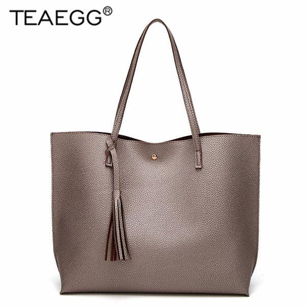 321a1f3b03f TEAEGG Fashion Designer Women Handbag Female PU Leather Bags Handbags  Ladies Portable Shoulder Bag Office Ladies