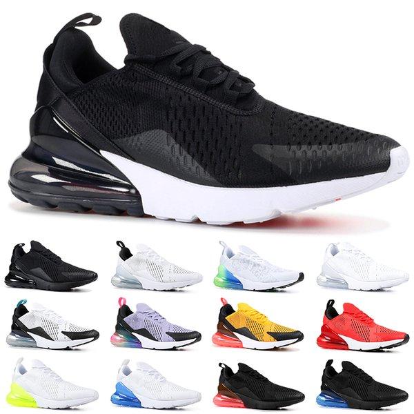 Nike Air Max 270 Chaussures de course pas cher Hommes Femmes Formateur BE TRUE Hot Punch Triple Noir Blanc Oreo Teal Photo Bleu Designer Sport Sneakers Taille 5.5-11